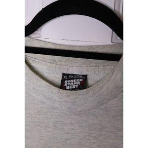 Vintage Shirts - Vtg SCREEN STARS Tee US Army Single stitch AshGray